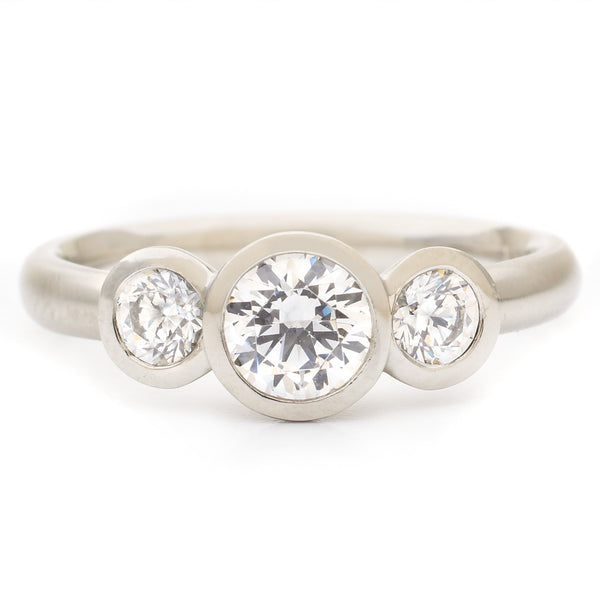 The Trinity Engagement Ring - Anne Sportun Fine Jewellery Toronto, Canada, and U.S.