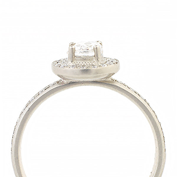 White Diamond Halo Ring - Anne Sportun Fine Jewellery Toronto, Canada, and U.S.