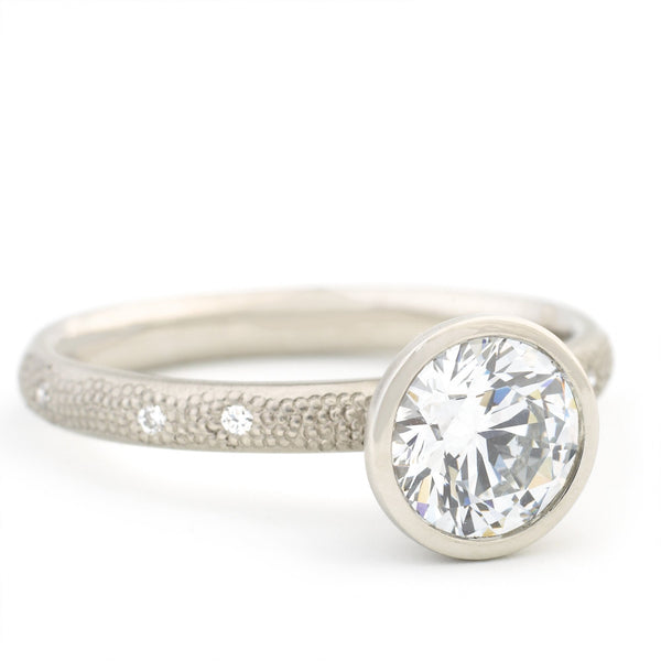 Stardust Bezel Engagement Ring - Anne Sportun Fine Jewellery