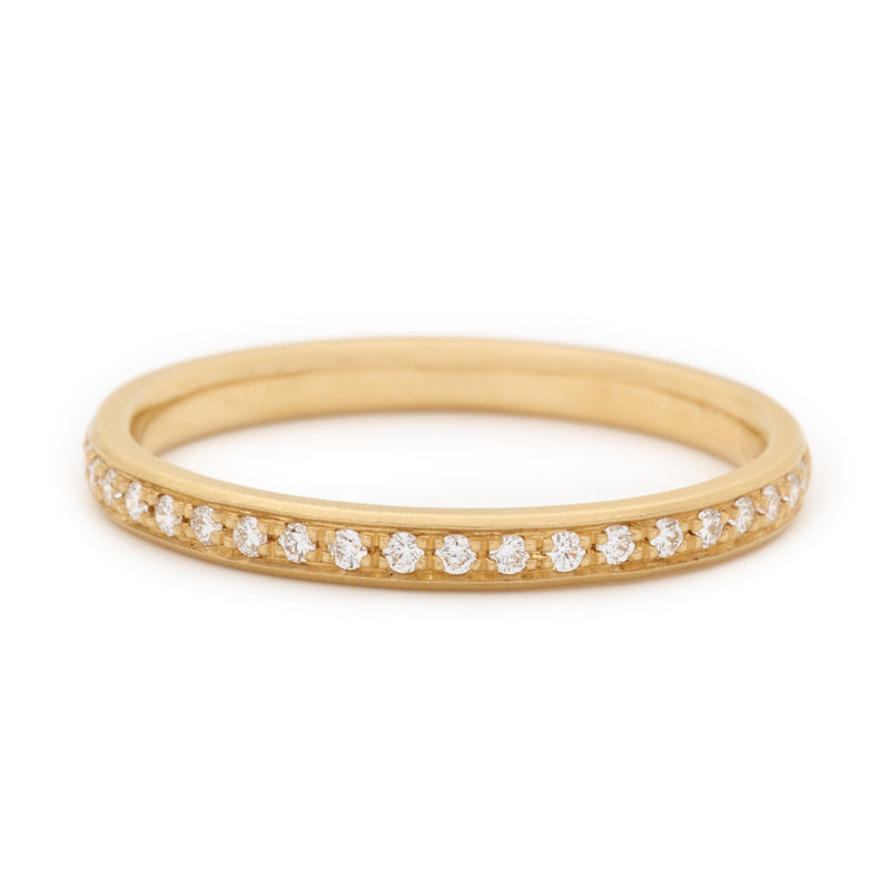 Single Row Pave Band - Anne Sportun Fine Jewellery Toronto, Canada, and U.S.