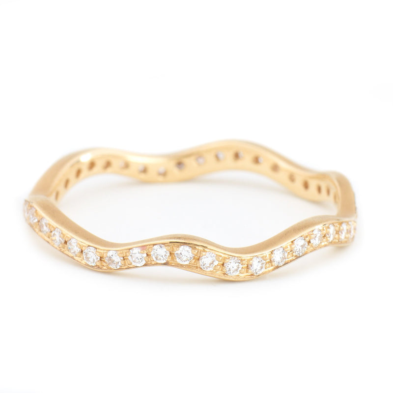 Women's Diamond Wave Band - Anne Sportun Fine Jewellery Toronto, Canada, and U.S.