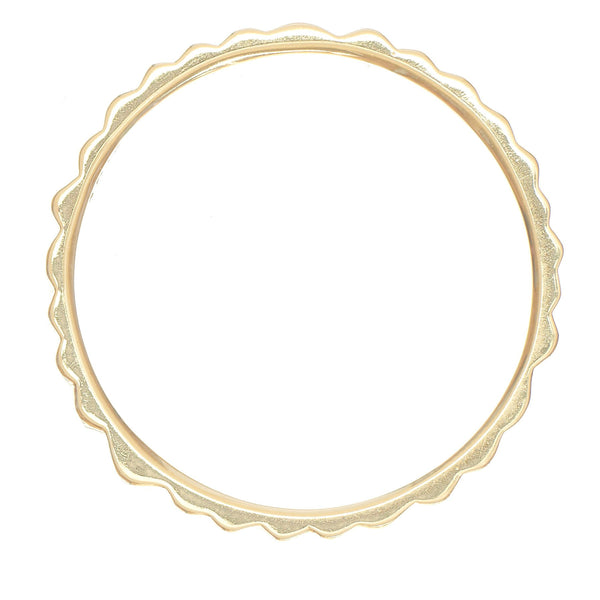 Slim Polished Textured Band - Anne Sportun Fine Jewellery