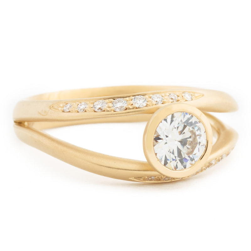 Double Flow Engagement Ring - Anne Sportun Fine Jewellery