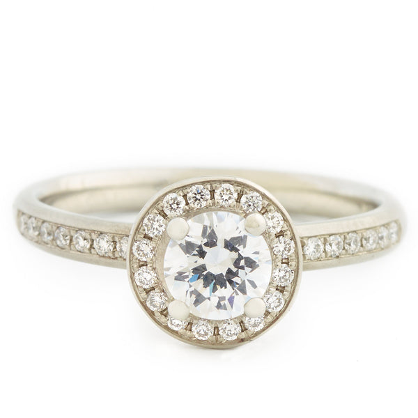 Halo Mount Engagement Ring - Anne Sportun Fine Jewellery Toronto, Canada, and U.S.