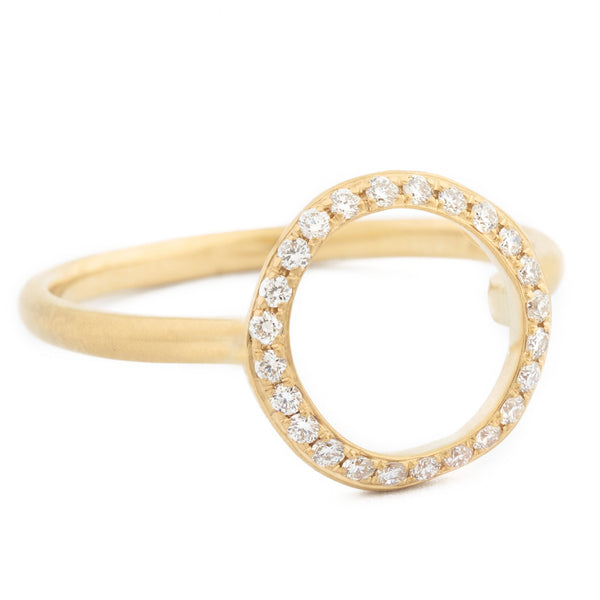 Open Pave Diamond 'Lilydust' Ring - Anne Sportun Fine Jewellery