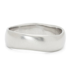 Men's Plain Wavy Band - Anne Sportun Fine Jewellery
