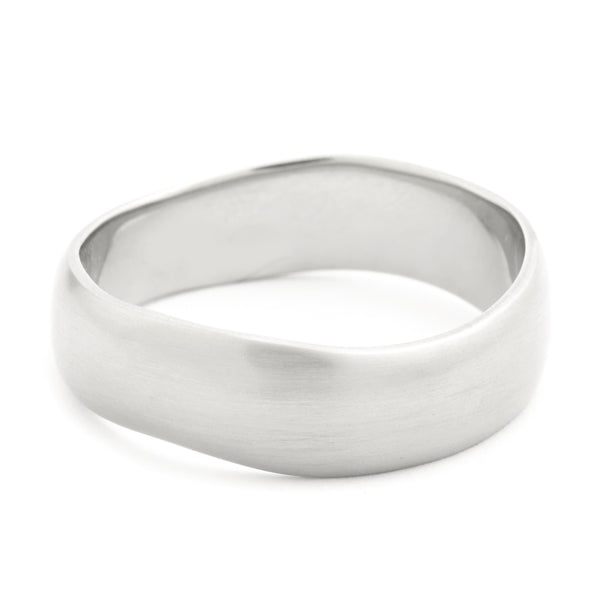 Men's Plain Wavy Band - Anne Sportun Fine Jewellery Toronto, Canada, and U.S.