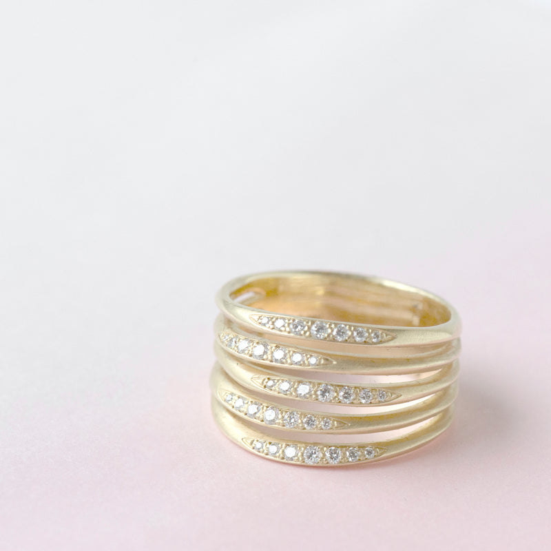 Stacked Five Flow Band - Anne Sportun Fine Jewellery