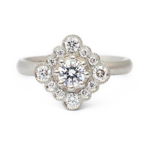 Grace Scalloped Engagement Ring - Anne Sportun Fine Jewellery