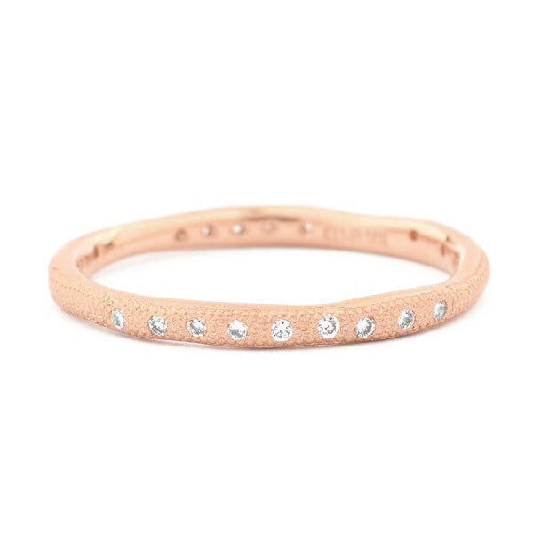 Gold Wavy Stardust Band - Anne Sportun Fine Jewellery Toronto, Canada, and U.S.