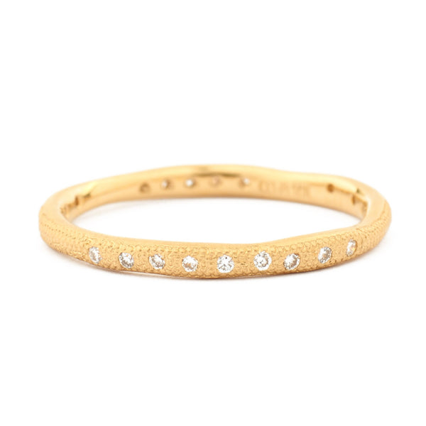 Gold Wavy Stardust Band - Anne Sportun Fine Jewellery