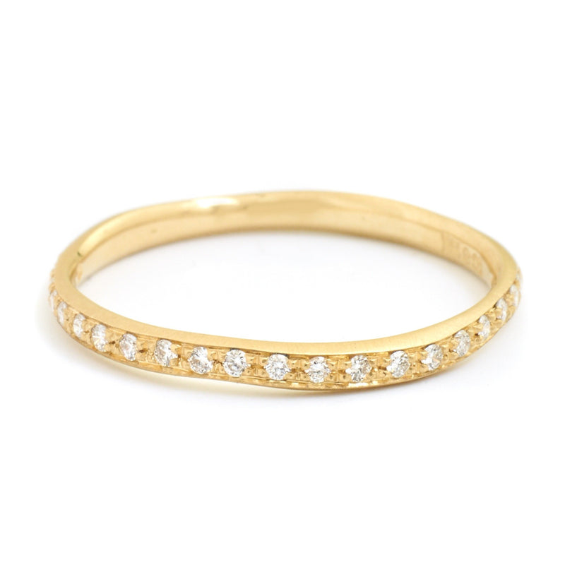 Single Row Diamond Wonky Band - Anne Sportun Fine Jewellery