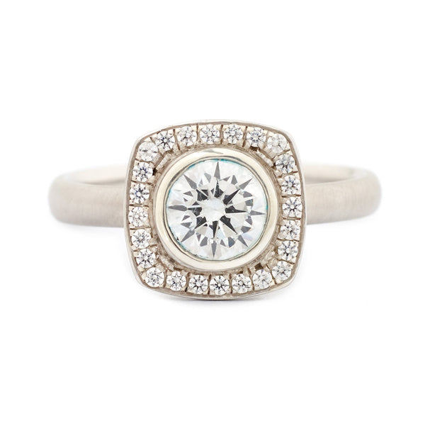 Cushion Halo Engagement Ring - Anne Sportun Fine Jewellery