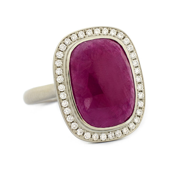 Rich Rosecut Ruby Ring - Anne Sportun Fine Jewellery