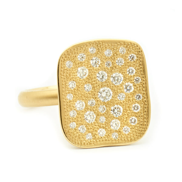 Rectangular Stardust Ring - Anne Sportun Fine Jewellery