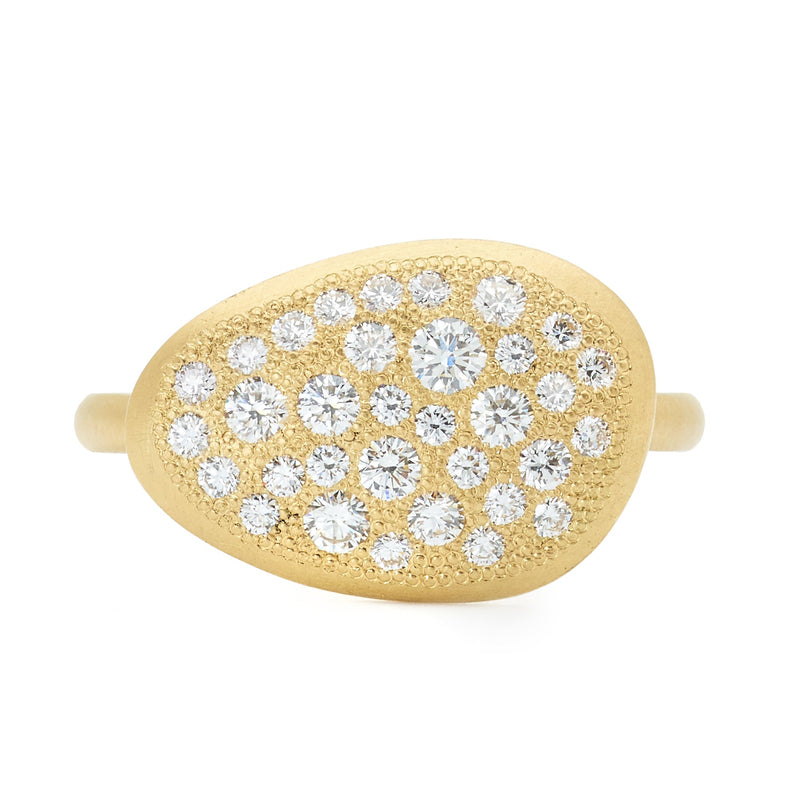 Large Diamond Petal Ring - Anne Sportun Fine Jewellery