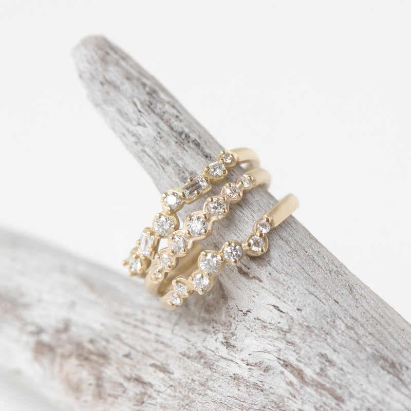Diamond Festival Stacking Ring - Anne Sportun Fine Jewellery