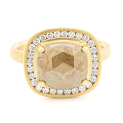 One of a Kind Taupe Rosecut Diamond Ring - Anne Sportun Fine Jewellery