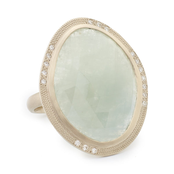 One of a Kind Pale Blue Ring - Anne Sportun Fine Jewellery