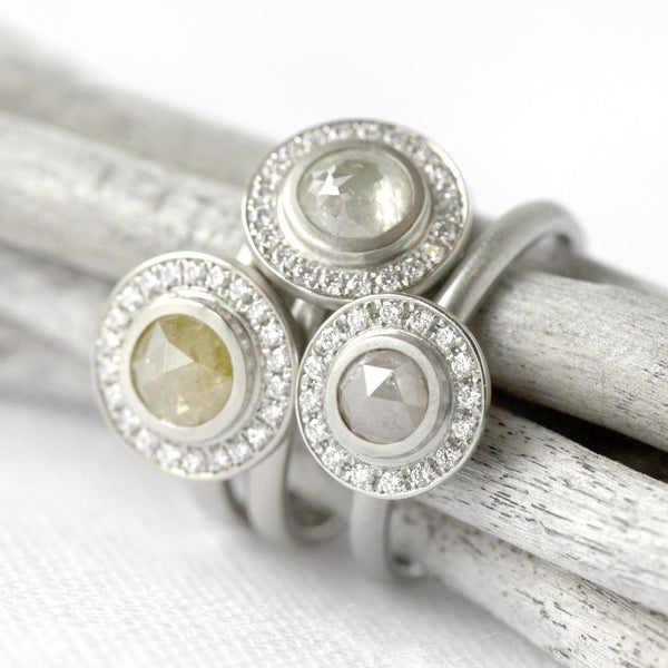 One of a Kind Taupe Round Diamond Ring - Anne Sportun Fine Jewellery Toronto, Canada, and U.S.