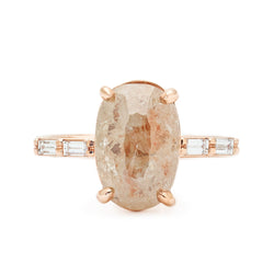 Champagne Champagne Peach Diamond Ring - Anne Sportun Fine Jewellery