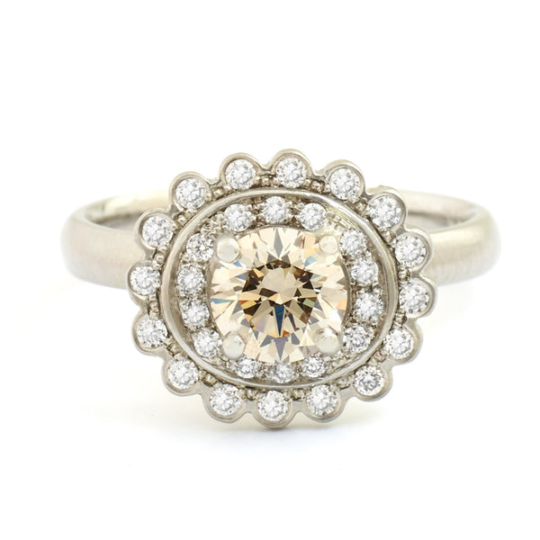 Scalloped Engagement Ring - Anne Sportun Fine Jewellery Toronto, Canada, and U.S.