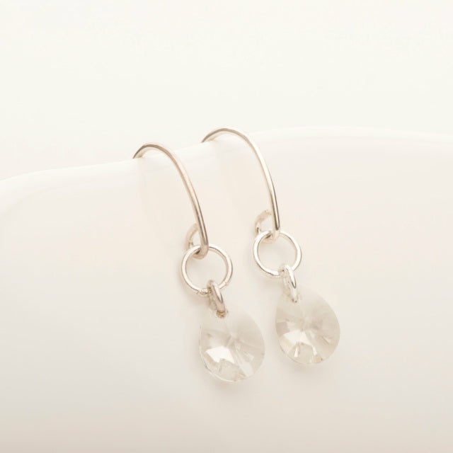 Freefall Clear Crystal Earring
