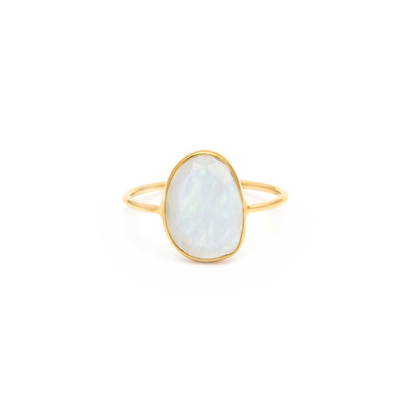 SELENA SLICE RING | MOONSTONE