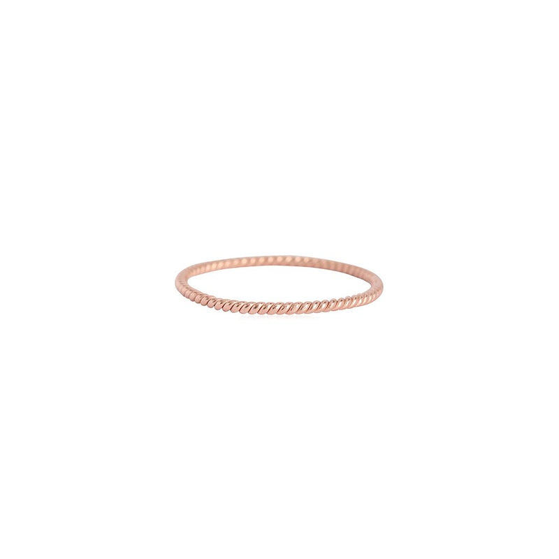 TWIST BAND RING | ROSEGOLD