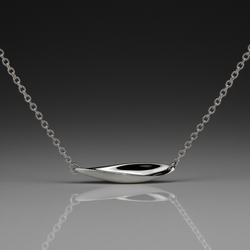 WAVE MEDIUM SILVER SIDEWAYS PENDANT - Anne Sportun Fine Jewellery