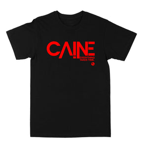 "Caine Red Logo ""Black"" Tee"