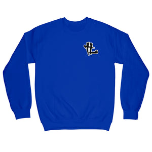 "TL Chenille ""Royal Blue"" Crewneck"