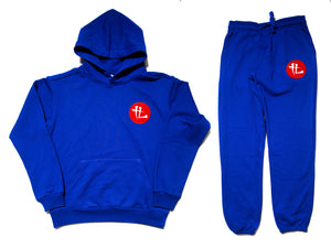 "TL Embroidered Patch ""Royal Blue"" Premium Cotton Terry Sweatsuit"