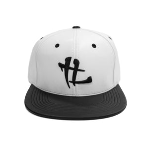 "TL Logo ""White/Black Leather"" Snapback"