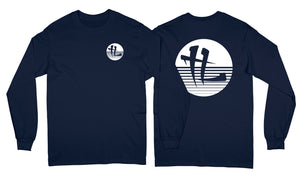 """TL Stripped Logo"" Long Sleeve Navy"