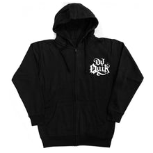 "Load image into Gallery viewer, Dj Quik ""Zip Up"" Black Hoodie"