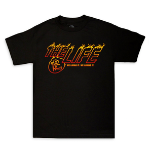 """TL"" Fire Flame Tee Black"