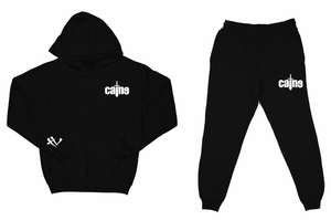 "Caine Sword Logo ""Black"" Sweatsuit Top and Bottom"