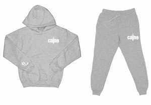"Caine Sword Logo ""Heather Grey"" Sweatsuit Top and Bottom"