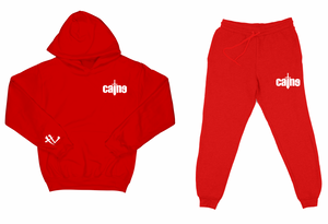 "Caine Sword Logo ""Red"" Sweatsuit Top and Bottom"