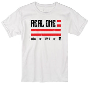"Caine"" Real Ones"" Tee White"