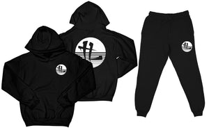 "TL Striped Logo ""Black"" Sweatsuit Top and Bottom"