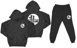 "TL Striped Logo ""Charcoal"" Sweatsuit Top and Bottom"