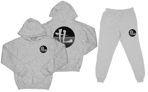 "TL Striped Logo ""Heather Grey"" Sweatsuit Top and Bottom"
