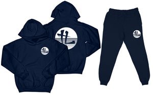 "TL Striped Logo ""Navy"" Sweatsuit Top and Bottom"