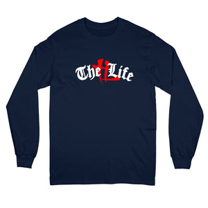 """TL Old English"" Long Sleeve Navy"