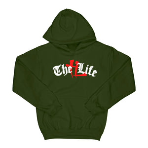 "TL Old English Logo ""Olive"" Hoodie"