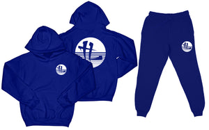 "TL Striped Logo ""Royal Blue"" Sweatsuit Top and Bottom"