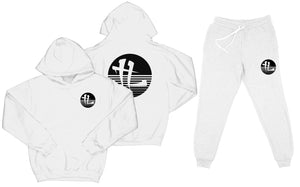 "TL Striped Logo ""White"" Sweatsuit Top and Bottom"