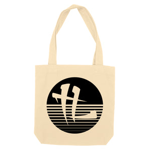 "TL Striped Logo ""Tote Bag"" Beige"
